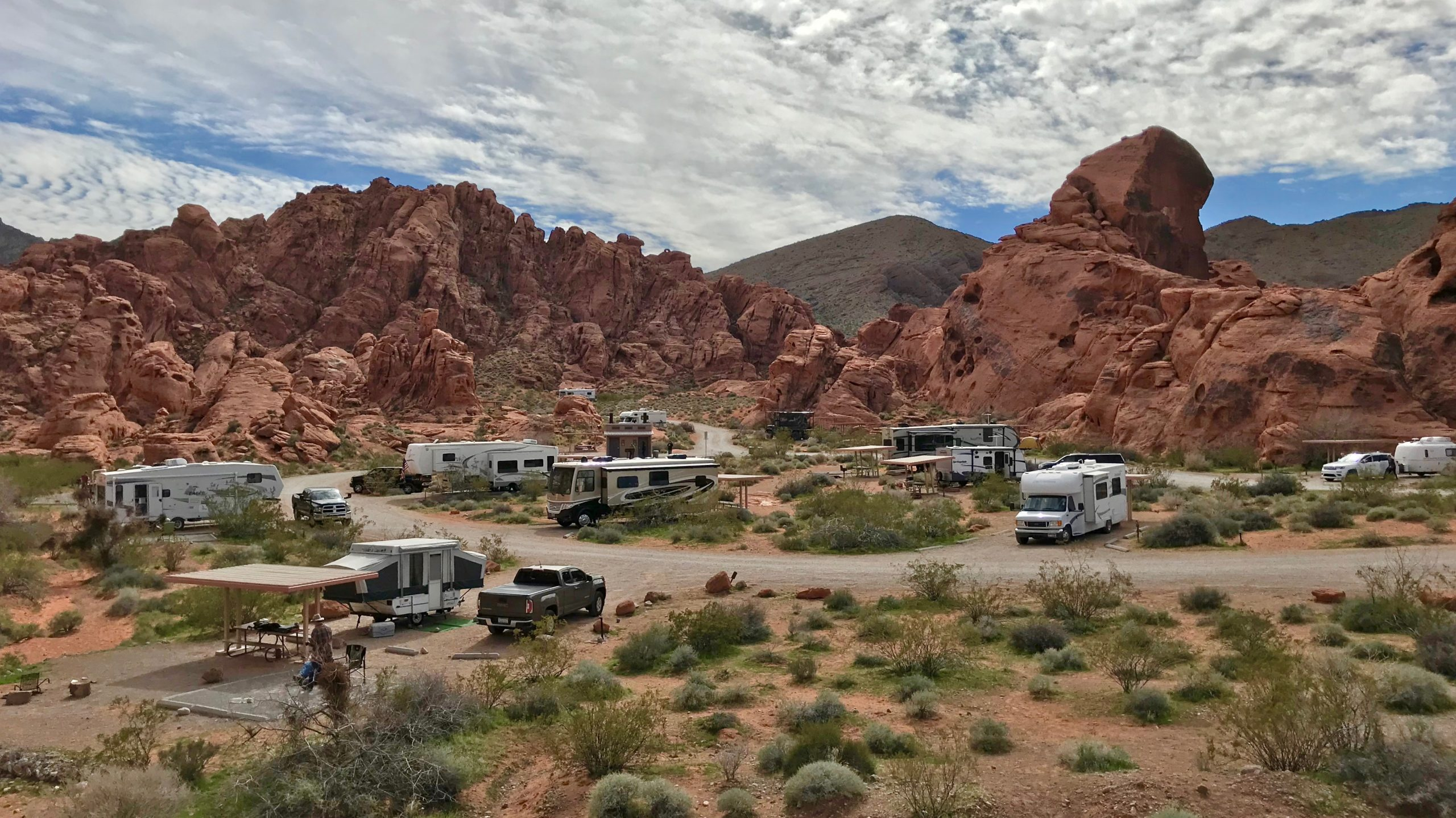 Arch Rock Campground at Valley of Fire State Park in Nevada