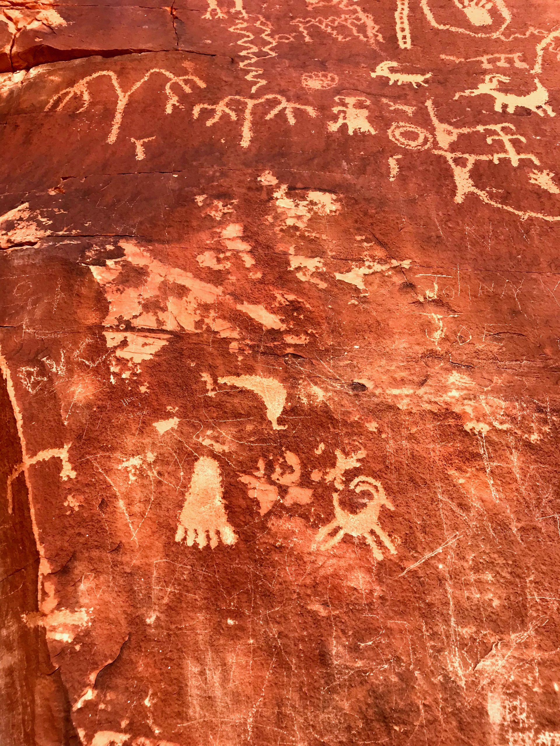 Petroglyphs at Valley of Fire State Park in Nevada