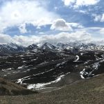 A panoramic view of the Alaska Mountain Range from Denali National Park