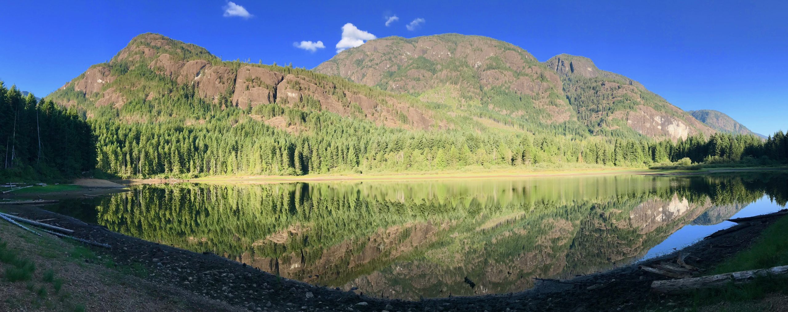 Darkis Lake reflects the surrounding beauty in Strathcona Park on Vancouver Island