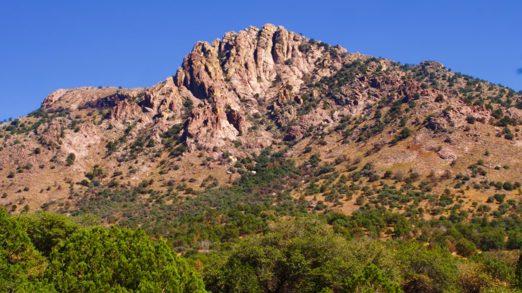 Sawtooth mountain, in the Davis Mountains of west Texas, has a jagged summit that resembles the teeth of a sawblade